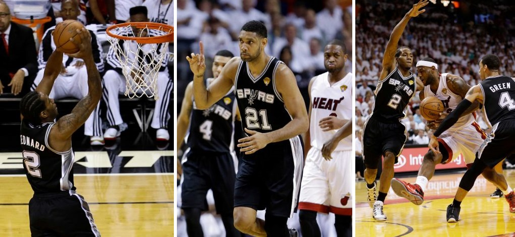 Kawhi Leonard Spurs Heat Game 3 NBA Playoffs 2014 Collage Photo
