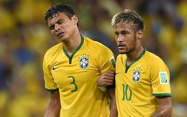 Thiago Silva and Neymar m