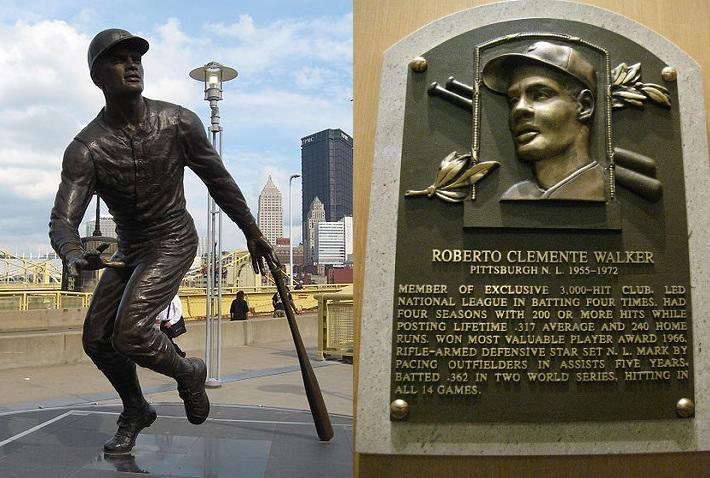 Roberto Clemente Statue HOF Plaque