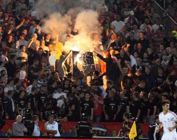 Serbia Albania Futbal Riot Match