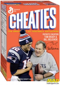 Tom Brady and coach Bill Belicheck (r.) are notorius for cheating.