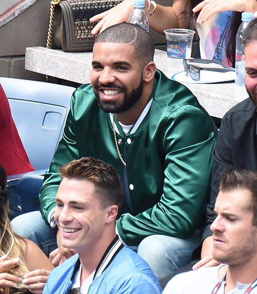 Drake sits courtside Serena tennis match US Open