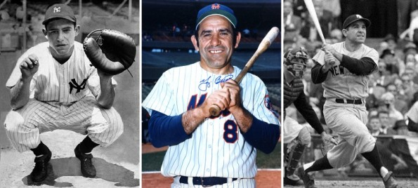 yogi berra classic photo yankees mets