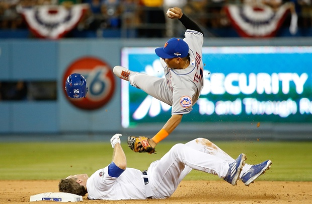 chase utley slide tackles Ruben Tejada dodgers mets game 2 nlds 10 10 15