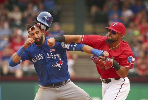 Odor punches Jose Bautista